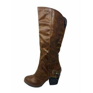 American Rag Brown Riding Boots Block Heel 10 M